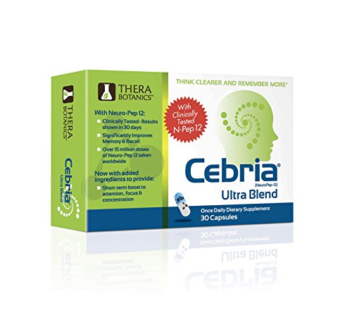 Cebria Ultra Blend | Brain Memory Supplement for Men, Women & Seniors – Safe and Effective | Think Clearer and Remember More | Improve Cognitive Health | Made with Non-GMO Ingredients | 1 Month Supply by Cebria