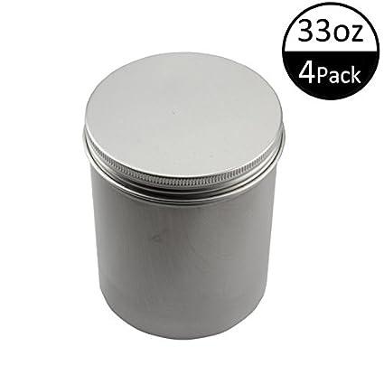TMO Aluminum Storage Boxes Metal Round Tin Cans Tall Aluminum Cans Container Tea Storage Container Food  sc 1 st  Amazon.com & Amazon.com: TMO Aluminum Storage Boxes Metal Round Tin Cans Tall ...