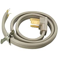 Southwire 09016 50-Amp 3-Wire Range Power Cord, 6-Foot