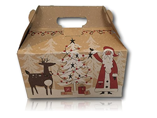 Limited Edition Christmas Holiday Gift Package by AtHomePlus (34 Count) --Perfect Present for Family, Friends, or Office!! (Woodland Santa) (Send Food Gift)