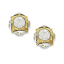 Marmalade Gold Tone Crystal Stud Earrings