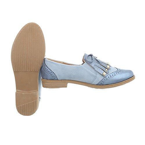 design A 2842 Mocassini Slipper Tacco Bleue Blocco Donna Ital Da Lumière Scarpe FxdqYpTwT