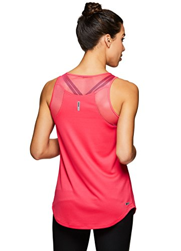RBX Active Women's Yoga Tank Top with Mesh Yoga Red M