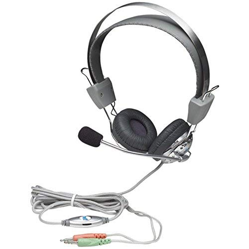 Manhattan 175517 SS Stereo Headset W/Boom Microphone & In-Line Volume Control Electronics Accessories