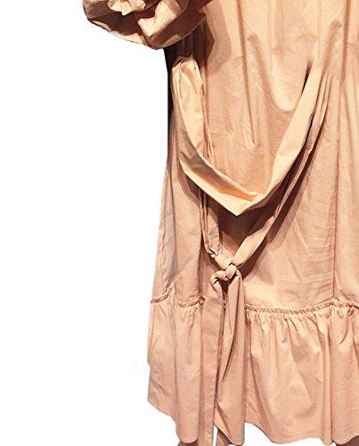 Zara Femme Robe en popeline avec épaules découvertes 4437/080