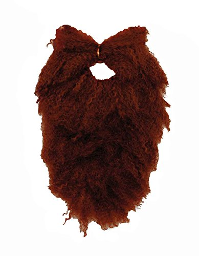[Brown Beard and Moustache Combo Costume Disguise] (Brown Mustache And Beard Costume)
