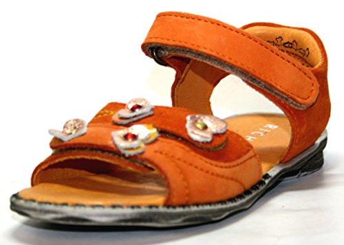 Juge 32.5110.6102, sandales enfant fille-orange-taille 25