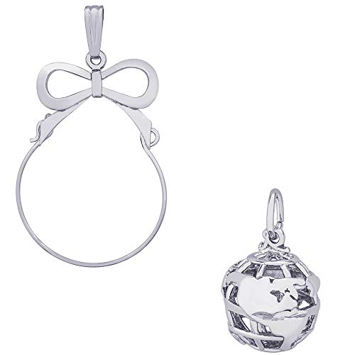 (Rembrandt Charms Globe Charm on a Rembrandt Charms Bow Charm Holder)