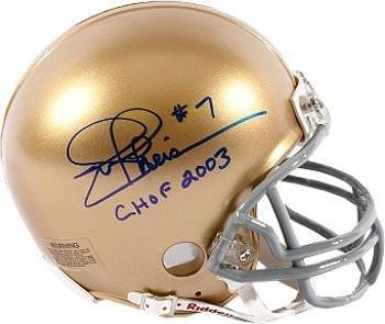 Joe Theismann signed Notre Dame Fighting Irish Riddell Mini Helmet CHOF 2003 - Autographed College Mini Helmets