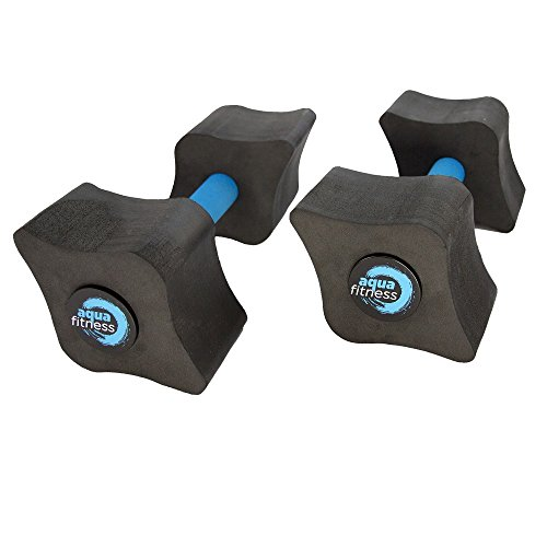 (Aqua Fitness Vari-Resist Dumbbells, Water Aerobics, Aquatic Low Impact Workout, Resistance Training)