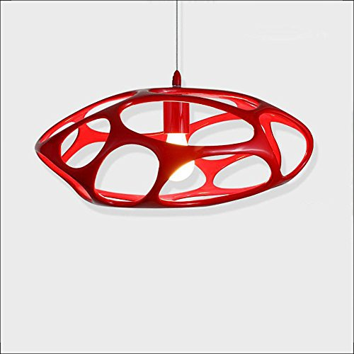 Modern Simple Fashion Creative Red Resin Map Pendant Lamp LED Dining Room Restaurant Bar Art Coral Chandelier E27 Ceiling Light (Design : (Red Coral Chandelier)