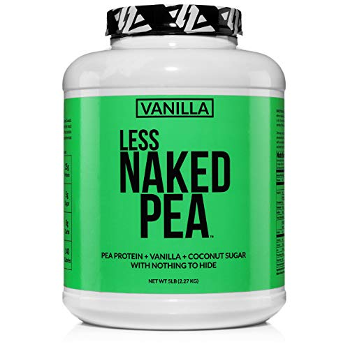 Less Naked Pea – Vanilla Pea Protein – Pea Protein Isolate from North American Farms – 5lb Bulk, Plant Based, Vegetarian & Vegan Protein. Easy to Digest, Non-GMO, Gluten Free, Lactose Free, Soy Free