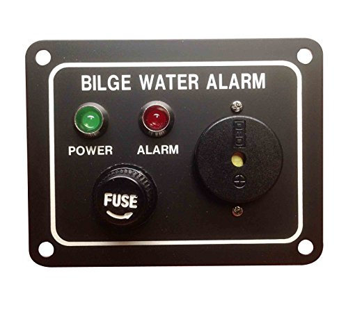 Pactrade Marine Boat Bilge Alarm Pump Switch Aluminum Plate, LED Indicators