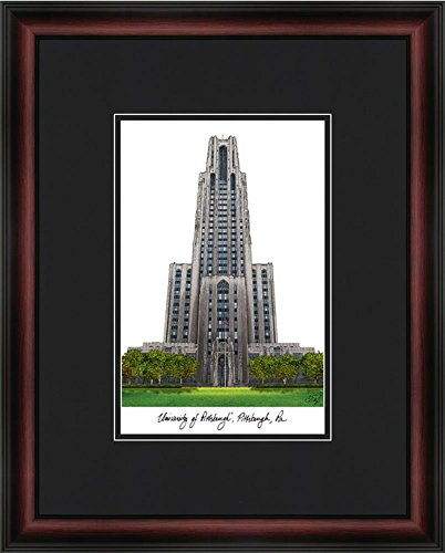 Landmark Publishing Pitt University Panthers Framed & Matted Campus Picture