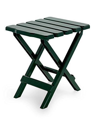 Camco 51681 Regular Adirondack Portable Outdoor Folding Side Table, Perfect for The Beach, Camping, Picnics, Cookouts and More, Weatherproof and Rust Resistant - Green