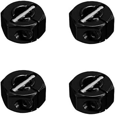 4PCS ShareGoo 12mm 7.0 Wheel Hex Drive Hub Adapter with Pins Screws for HSP HPI Redcat Tamiya Traxxas RC4WD D90 1//10 RC Car,Black