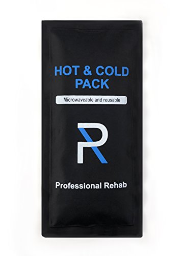 Professional Rehab Reusable Ice Pack - Hot and Cold Gel Pack - Flexible - 10x5 - Therapy and Relief for Back Pain, Sprained Ankel, Shoulder and Knee Injuries, Neck Pain, and More