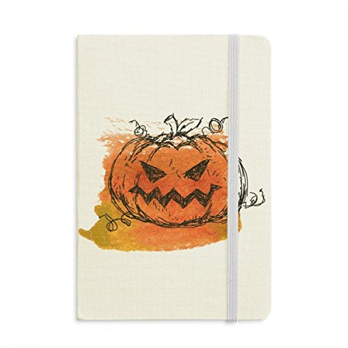 Hand Painted Pumpkin Of Halloween Classic Notebooks Fabric Hard Cover Office Work (Halloween Painted Pumpkins)