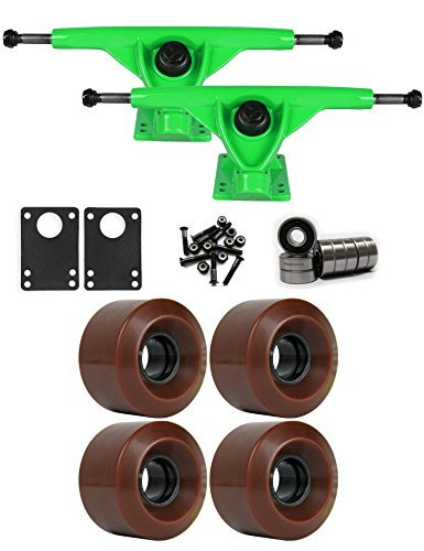 RKPグリーンLongboard Trucksホイールパッケージ60 mm x 41 mm 83 a 1545 Cブラウン [並行輸入品]   B078WW8PZY