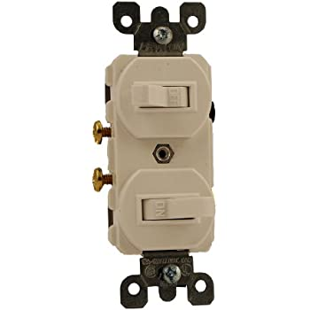 leviton 5243 15 amp 120 277 volt duplex style two 3 way leviton 5224 2w 15 amp 120 277 volt duplex style single pole single pole ac combination switch grounding white