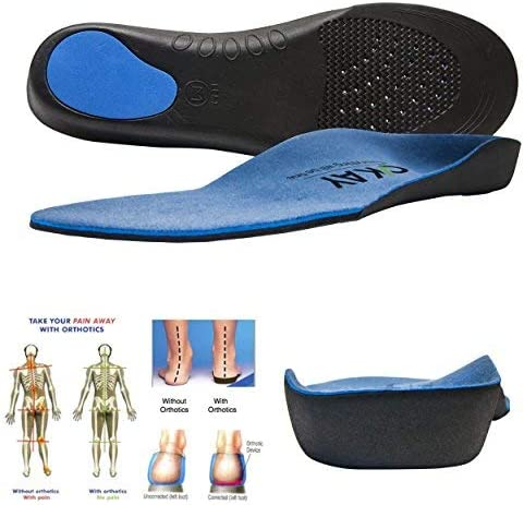 3//4 Orthotic Insole Shoe Cushion Arch Support Flats Feet Pronations Fallen FLA