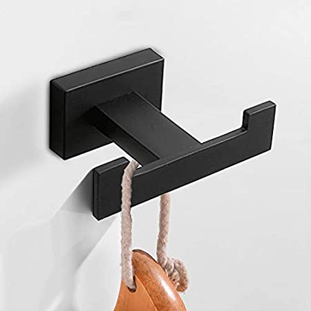 Amazon.com: DUZHOME Robe Hook - Robe Hook Black Stainless ...