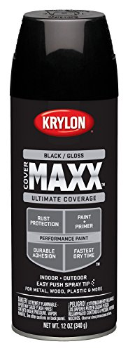 Krylon K09106000 12 Ounce, Gloss Black