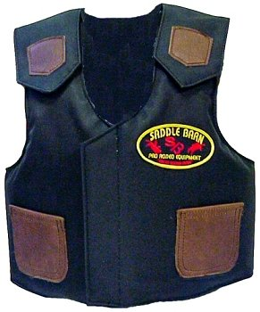 Saddle Barn Pro Rodeo Junior Cordura Bull Riding Protective Vest