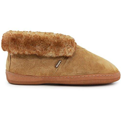 Lamo Mens Bootie Shoe, Suede, Chestnut