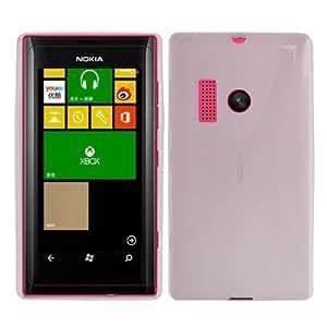 X Type TPU Protection Case for Nokia Lumia 505 (Transparent)