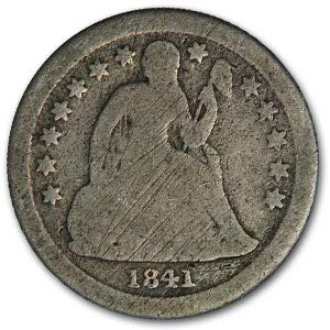 1841 O Liberty Seated Dime Good Dime Good
