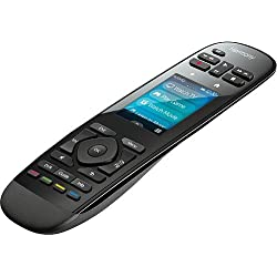 """Logitech Harmony Ultimate One 15-Device Universal Remote with 2.4"""" Color Touchscreen, Favorite-Channel Icons and Rechargeable Battery (Black)"""