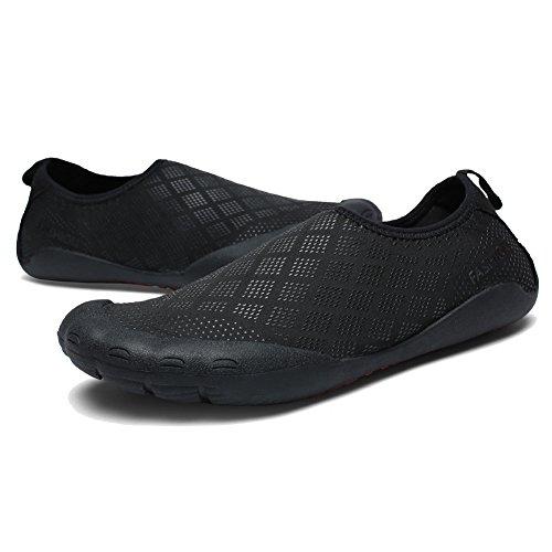 Cior Fantiny Hommes Chaussures Deau En Plein Air Sport Glisser Sur Des Espadrilles 14 Trous Système De Drainage À Séchage Rapide Et Multifonctionnel G.black