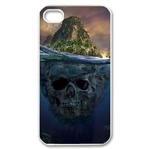 [Pirate Skull] pirate skull island For Apple Iphone 5C Case Cover {White}