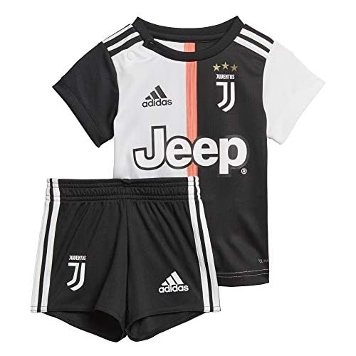 chollos oferta descuentos barato adidas Juventus Turin Mini Home Baby Equipación Unisex Bebé Multicolor Black White 80 9 12 Meses