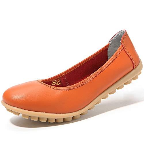 EU ZHRUI Color 39 Zapatos tamaño Blanco Naranja pwCawO