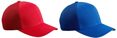 bre & Airmesh Fitted Cap, Set of Red / Royal Sets - Small/Medium (Royal Red Fitted Hat)