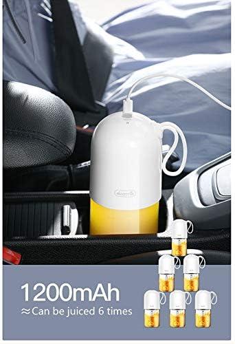 Personale Misura Blender Juicer, 300ml Portatile Elettrico Blender Multiuso con USB Ricaricabile 4 Inox Lame BPA Libera 450ml