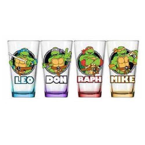 Teenage Mutant Ninja Turtles Names Pint Glass by JUST FUNKY