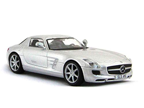- Mercedes-Benz SLS AMG 2010 Year Silver German Sports Car 1/43 Scale Collectible Model Vehicle Toy