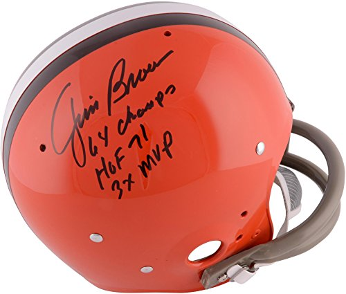 Jim Brown Cleveland Browns Autographed TK Suspension Helmet with ''1964 NFL Champs'' Inscription - Fanatics Authentic Certified ()