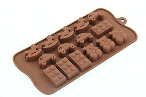 On The Journey - Ice/Cake/Chocolate/Sugar Decorating Silicone Mini Fondant Mold Tray Silicone Chocolate Praline Mold lego