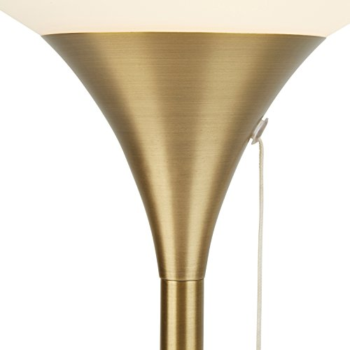 Rivet Harper Mid-Century Marble and Brass Table Lamp, 24.5