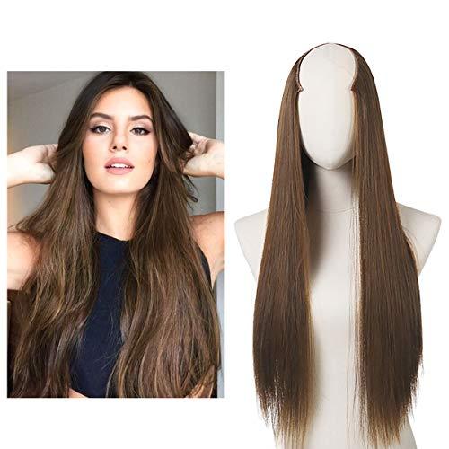 Clip in Hair Extension U shape Full Head Straight Long 24