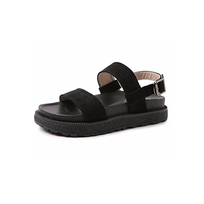 Hn Shoes Donna Sandali Piatto Cinghietti Estate Boemia Romano Spiaggia Scarpe Caviglia Cinghia Ciabatte Infradito Aperto Dito Del Piede Ragazza