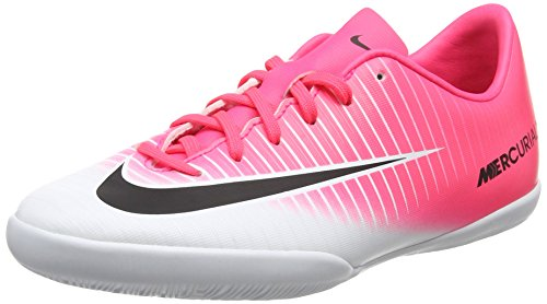 Nike Jr. Mercurial Vapor XI IC Indoor Soccer Shoe (Sz. 4.5Y) Racer Pink, White - Indoor Soccer Girls Nike