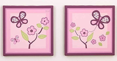 Sugar Plum Canvas Art - Set of 2 (Sugar Plum By Cocalo)