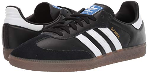 adidas Originals Men's Samba OG Sneaker Black/White/Gum 11.5