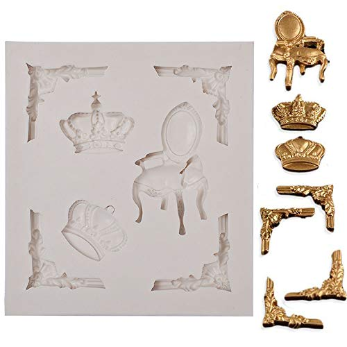 PROKITCHEN 3D Frame Fondant Mold Retro Cake Mould Cake Decorating Baking Tools Candy Making Mold for Fondant, Soap and -