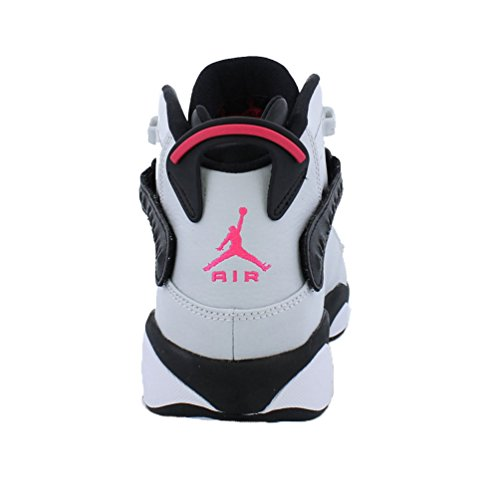 Jordan 6 Rings GG Boys Basketball-Shoes 323399 Pure Platinum/Hyper Pink-black